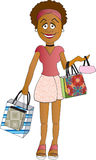 Shopper Girl. Woman with shopping bags Stock Photography