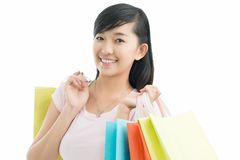 Shopper girl Royalty Free Stock Images
