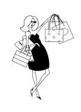 Shopper Girl Stock Photo