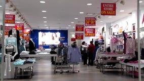 Shopper inside Coquitlam center shopping mall stock video footage