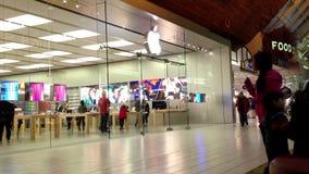 Shopper inside Coquitlam Center shopping mall stock footage