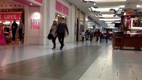 Shopper inside Metropolis shopping mall stock video footage