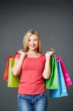 Shopper in isolation Royalty Free Stock Photography