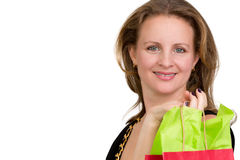Shopper Lady Happily done with her Shopping Stock Image
