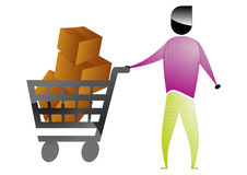 Shopper man Stock Images