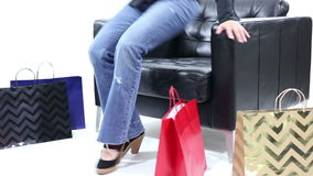 Shopper Relaxing stock video