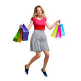 Shopper at sale Royalty Free Stock Photo