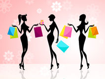 Shopper Shopping Shows Commercial Activity And Adults Royalty Free Stock Images