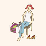 Shopper theme elemets vector,eps Stock Image