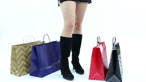 Shopper Waiting stock video footage