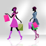 Shopper Women Means Commercial Activity And Adults Royalty Free Stock Photos