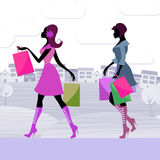 Shopper Women Means Retail Sales And Adults Royalty Free Stock Photo