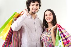 Shoppers Royalty Free Stock Photos