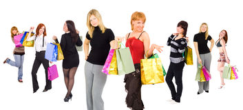 Shoppers stock photography