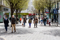 Shoppers on Albert Street, Nottingham Royalty Free Stock Photography