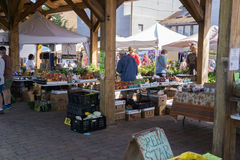 Free Shoppers At A Local Farmers Market Royalty Free Stock Image - 97485486