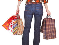 Shoppers with bags Royalty Free Stock Photography