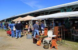 Shoppers browsing through items for sales, annual flea market,Washington County Fairgrounds,2016 Stock Photos