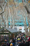Shoppers Bryant Park Royalty Free Stock Photography