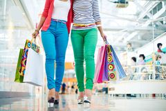 Shoppers in casual Royalty Free Stock Photography