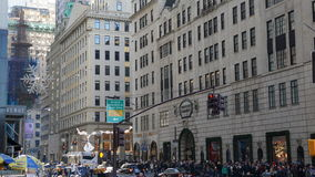 Shoppers at Christmas on Fifth Avenue, New York royalty free stock photography