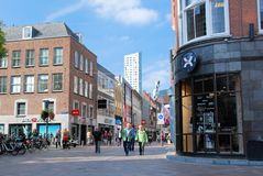 Shoppers in the City Centre-Shopping Centre Eindhoven-Netherlands royalty free stock photos