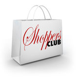 Shoppers Club Shopping Bag Store Buying Customer Product Service Stock Images