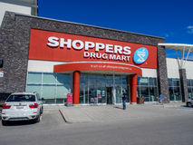 Shoppers Drug Mart. Outlet on May 29, 2015 in Calgary, Alberta Canada. This Shoppers is in Aspen Landing, an extremely popular shopping area in Calgary's area royalty free stock photos