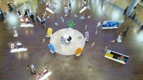 Shoppers at Dubai Mall, Dubai UAE stock footage