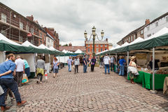 Shoppers English open air market Royalty Free Stock Image