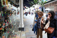Shoppers in Gibraltar Stock Photography