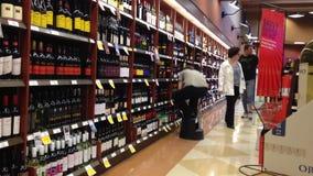 Shoppers inside BC liquor store Stock Photos
