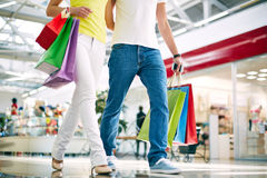 Shoppers in jeans Stock Photo