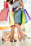 Shoppers legs Royalty Free Stock Images