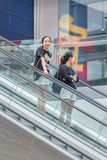 Shoppers at Livat Shopping Mall, Beijing, China Stock Photos