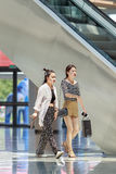 Shoppers at Livat Shopping Mall, Beijing, China Stock Photo