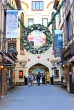 Shoppers in London Court, Christmas, Perth Stock Photography