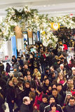 Shoppers at Macys on Thanksgiving Day, November 28 Royalty Free Stock Photography