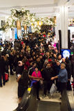 Shoppers at Macys on Thanksgiving Day, November 28 Royalty Free Stock Images