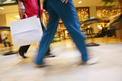 Shoppers In A Mall Stock Images