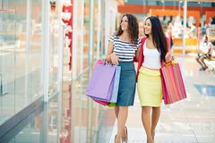 Shoppers in the mall Stock Images
