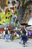 Shoppers in the new Markthal Royalty Free Stock Photography