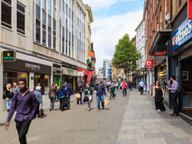 Shoppers on Nottingham's busy Clumber Street Royalty Free Stock Image