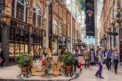 Shoppers at Shopping Arcade Royalty Free Stock Photo