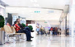 Shoppers at shopping center Stock Image