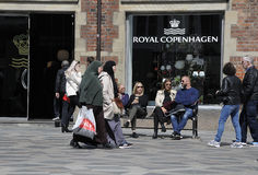 SHOPPERS ON STROEGET Royalty Free Stock Photography