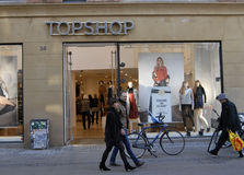 SHOPPERS ON STROEGET Stock Photo