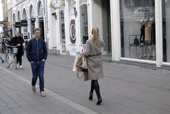 SHOPPERS ON STROEGET Stock Image