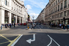 Shoppers and tourists in Regent Street Stock Photos