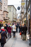 Shoppers and Tourists Wandering around Salzburg City Centre Stock Image